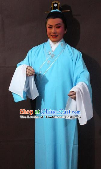 Traditional China Beijing Opera Niche Embroidery Costume, Chinese Peking Opera Scholar Embroidered Robe Clothing