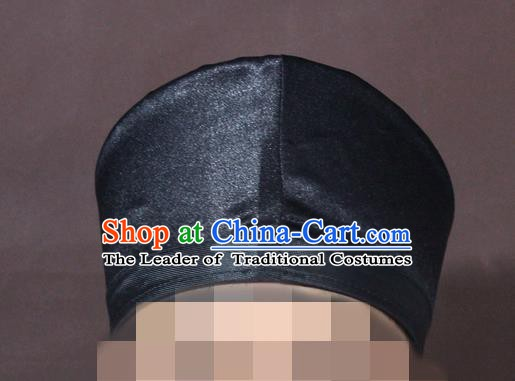Traditional Chinese Beijing Opera Taoist Black Hats Headband for Men