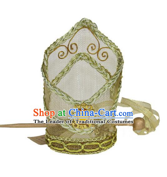 Traditional Handmade Chinese Ancient Classical Hair Accessories Prince Hairdo Crown for Men
