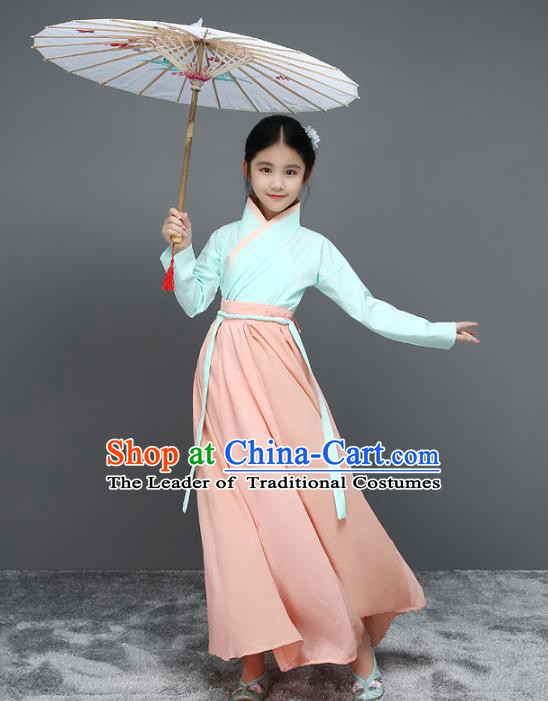 Traditional Chinese Ming Dynasty Children Costume, China Ancient Scholar Clothing for Kids