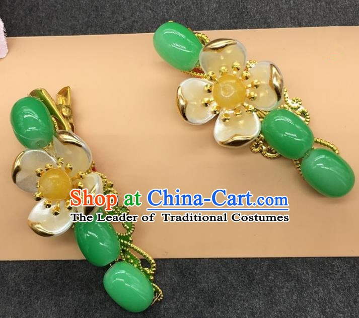 Traditional Handmade Chinese Ancient Classical Hair Accessories Hanfu Hairpins Jade Hair Stick for Kids