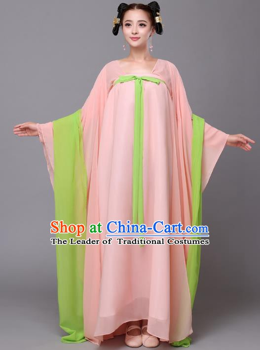 Traditional Chinese Tang Dynasty Palace Maid Costume, China Ancient Princess Hanfu Dress Clothing for Women
