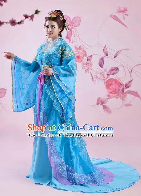Traditional Chinese Ancient Imperial Consort Costume, China Tang Dynasty Palace Lady Embroidered Clothing for Women