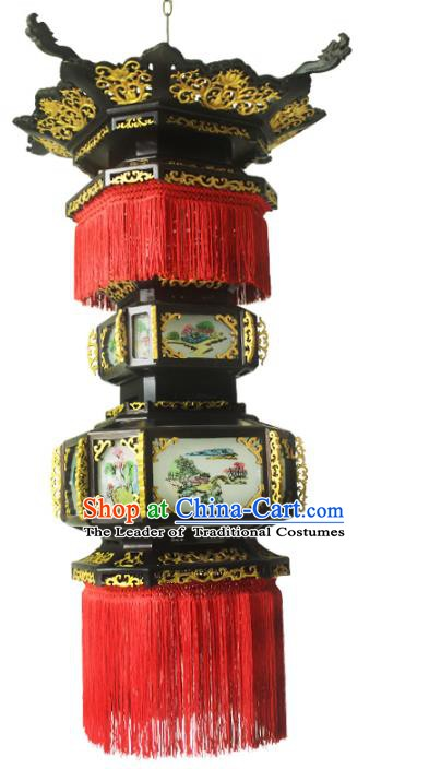 Traditional Chinese Handmade Ceiling  Lantern Classical Dragons Palace Lantern China Palace Lamp