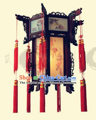 Traditional Chinese Handmade Wood Carving Ceiling Lantern Classical Palace Lantern China Palace Lamp