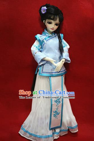 Traditional Ancient Chinese Nobility Lady Costume, Chinese Qing Dynasty Manchu Lady Embroidered Clothing for Women