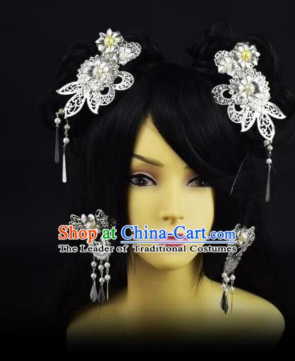 Traditional Handmade Chinese Hair Accessories Hairpins Headwear Complete Set for Women