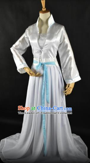 Traditional Chinese Ancient Swordswoman Hanfu Costume Song Dynasty Palace Lady Princess Clothing for Women