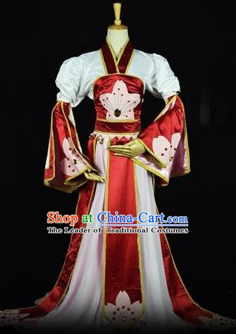 Traditional Chinese Ancient Cosplay Palace Lady Costume Tang Dynasty Princess Clothing
