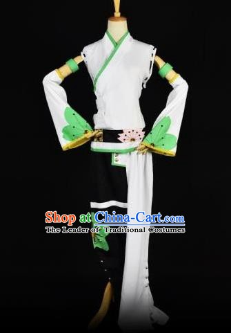Traditional Chinese Ancient Cosplay Young Lady Costume Folk Dance Clothing