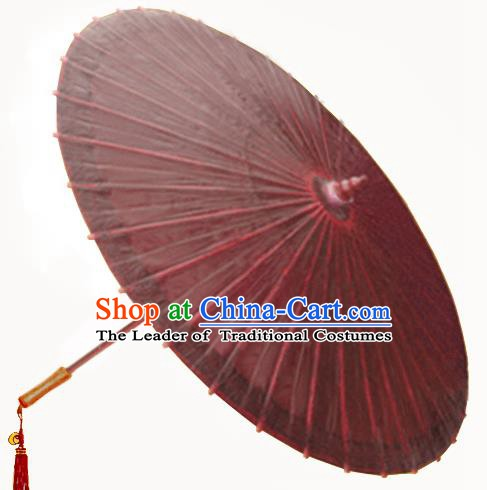 Asian Dance Umbrella China Handmade Classical Oil-paper Umbrellas Stage Performance Purple Umbrella Dance Props