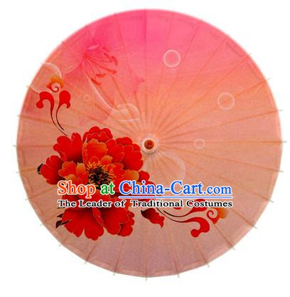 Asian China Dance Handmade Umbrella Stage Performance Umbrella Printing Peony Oil-paper Umbrellas