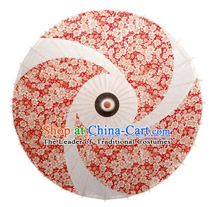 Asian China Dance Umbrella Stage Performance Umbrella Handmade Printing Oil-paper Umbrellas