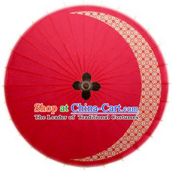 Asian China Dance Umbrella Stage Performance Umbrella Handmade Printing Red Oil-paper Umbrellas