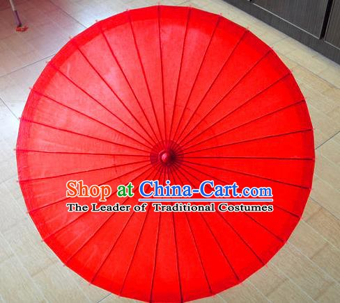 Asian China Dance Handmade Wedding Umbrella Stage Performance Umbrella Red Oil-paper Umbrellas