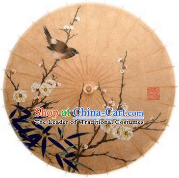 Asian China Dance Handmade Umbrella Stage Performance Props Umbrella Painting Peach Blossom Oil-paper Umbrellas