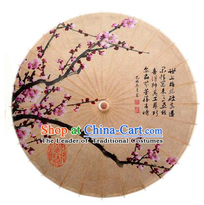 China Traditional Dance Handmade Umbrella Painting Red Plum Blossom Oil-paper Umbrella Stage Performance Props Umbrellas