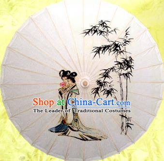 China Traditional Dance Handmade Umbrella Painting Bamboo Beauty Oil-paper Umbrella Stage Performance Props Umbrellas