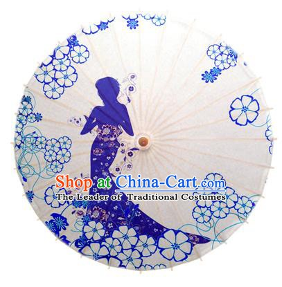 China Traditional Dance Handmade Umbrella Printing Wedding Oil-paper Umbrella Stage Performance Props Umbrellas