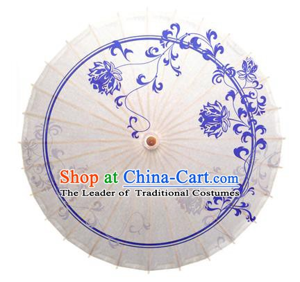 China Traditional Dance Handmade Umbrella Printing Chrysanthemum Oil-paper Umbrella Stage Performance Props Umbrellas
