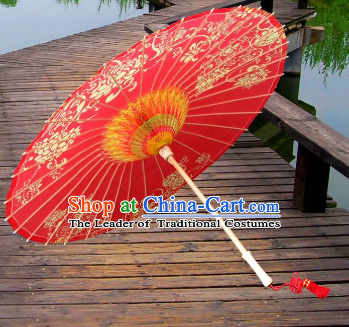 China Traditional Dance Handmade Umbrella Wedding Red Oil-paper Umbrella Stage Performance Props Umbrellas