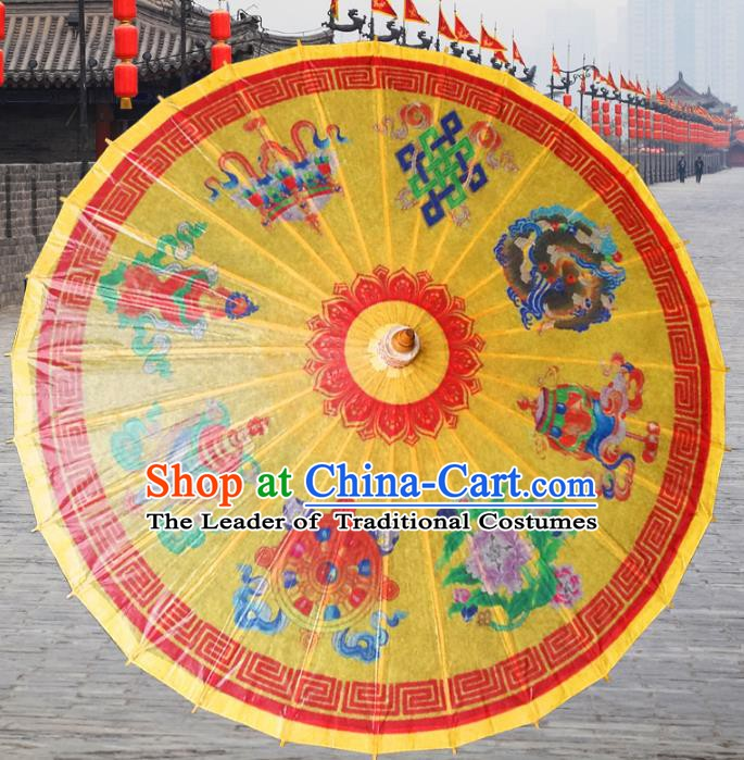 China Traditional Dance Handmade Umbrella Oil-paper Umbrella Stage Performance Props Umbrellas