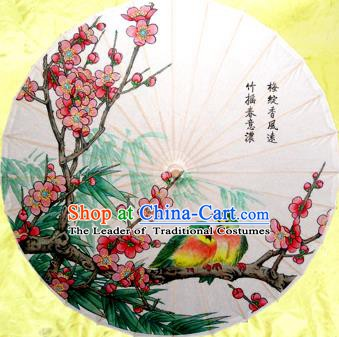 Handmade China Traditional Dance Painting Peach Blossom Umbrella Oil-paper Umbrella Stage Performance Props Umbrellas