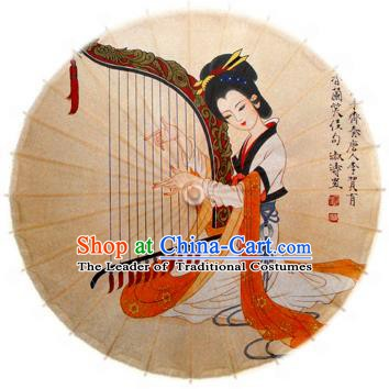 Handmade China Traditional Dance Ink Painting Luthier Umbrella Oil-paper Umbrella Stage Performance Props Umbrellas