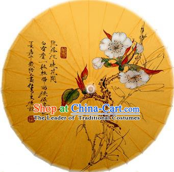 Handmade China Traditional Dance Ink Painting Spring Flowers Umbrella Oil-paper Umbrella Stage Performance Props Umbrellas