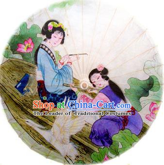 Handmade China Traditional Dance Umbrella Oil-paper Umbrella Stage Performance Props Umbrellas