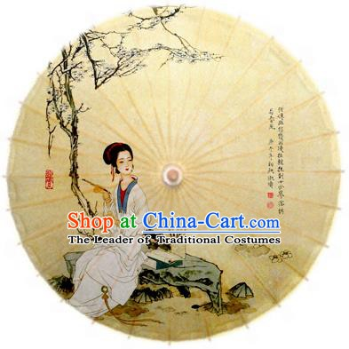 China Traditional Dance Handmade Umbrella Classical Printing Oil-paper Umbrella Stage Performance Props Umbrellas