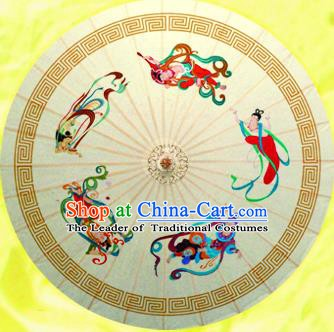 China Traditional Dance Handmade Umbrella Classical Dunhuang Flying Apsaras Oil-paper Umbrella Stage Performance Props Umbrellas