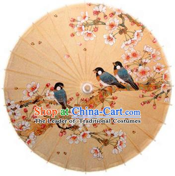 Handmade China Traditional Dance Umbrella Classical Printing Malus Spectabilis Oil-paper Umbrella Stage Performance Props Umbrellas
