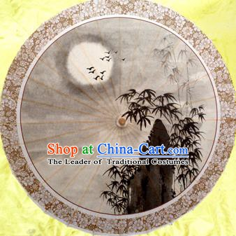 Handmade China Traditional Dance Umbrella Classical Painting Bamboo Oil-paper Umbrella Stage Performance Props Umbrellas