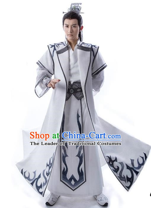 Traditional Chinese Ancient Swordsman Costume Tang Dynasty Prince Clothing for Men