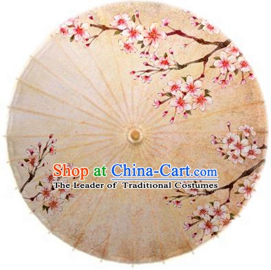 China Traditional Folk Dance Paper Umbrella Hand Painting Peach Blossom Oil-paper Umbrella Stage Performance Props Umbrellas