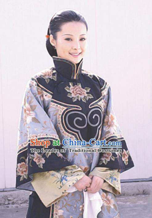 Traditional Chinese Ancient Late Qing Dynasty Nobility Mistress Embroidered Xiuhe Suit Costume for Women