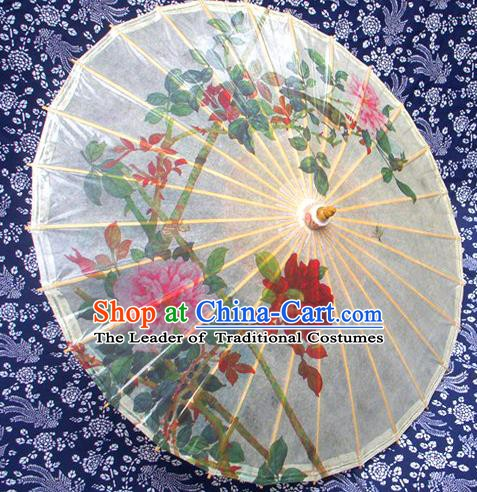 Handmade China Traditional Folk Dance Umbrella Stage Performance Props Umbrellas Printing Oil-paper Umbrella