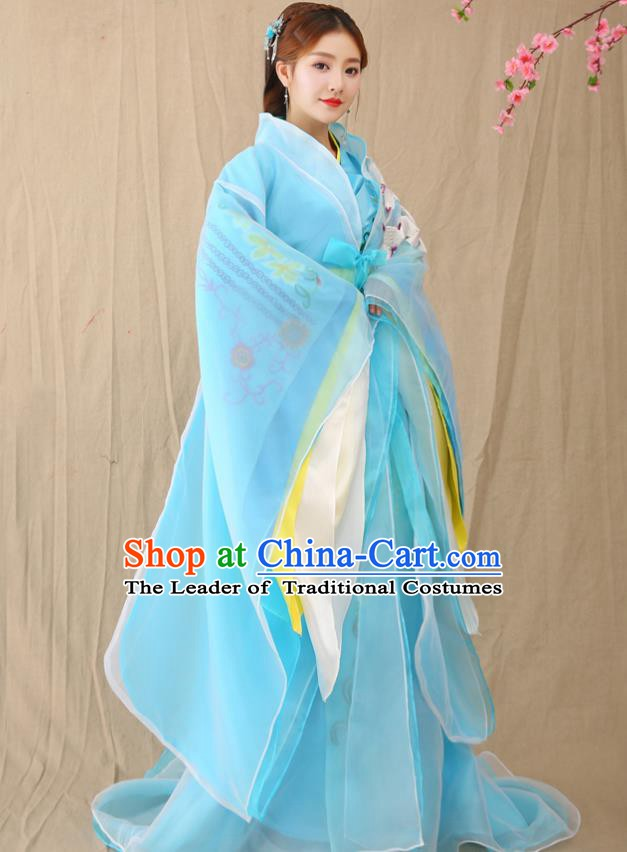 Traditional Chinese Ancient Palace Lady Fairy Costume, China Han Dynasty Imperial Consort Hanfu Clothing for Women