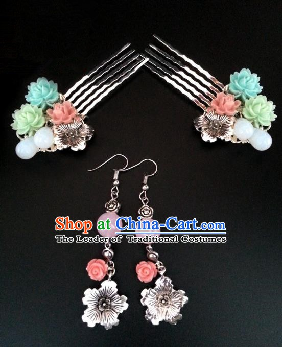 Traditional Handmade Chinese Ancient Classical Hair Accessories Hairpins and Earrings for Women