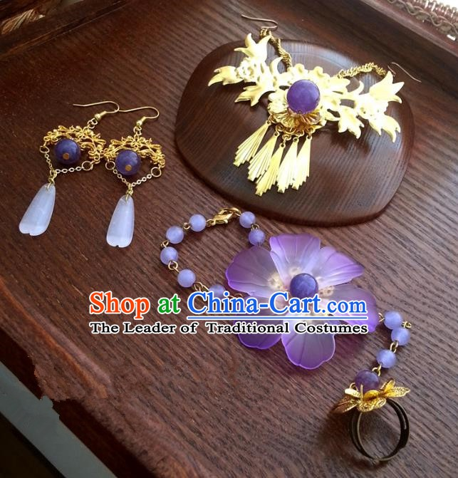 Traditional Handmade Chinese Ancient Classical Hair Accessories Hairpins Frontlet for Women