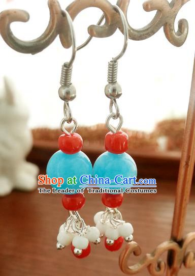 Traditional Handmade Chinese Ancient Princess Hanfu Eardrop Accessories Classical Earrings for Women