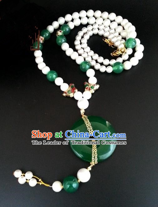 Traditional Handmade Chinese Ancient Classical Accessories Beads Tassel Necklace for Women