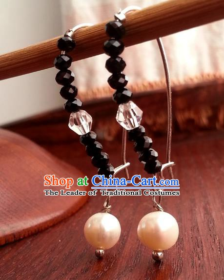 Traditional Handmade Chinese Ancient Princess Hanfu Eardrop Classical Earrings for Women