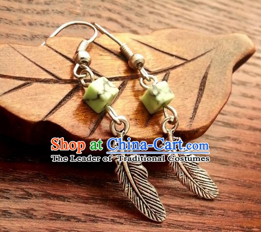 Traditional Chinese Handmade Ancient Princess Hanfu Eardrop Classical Palace Lady Earrings for Women