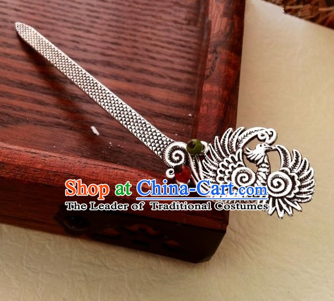 Traditional Chinese Handmade Classical Hair Accessories Ancient Hanfu Phoenix Hairpins for Women