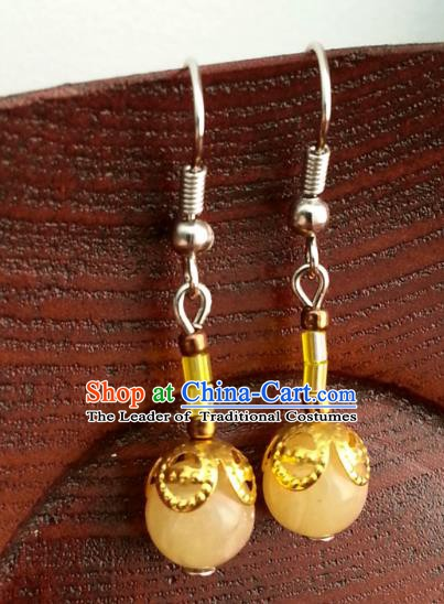 Traditional Chinese Handmade Classical Hanfu Eardrop Ancient Palace Queen Earrings for Women