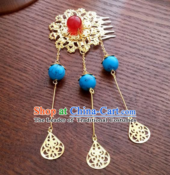 Traditional Chinese Handmade Classical Hair Accessories Hair Comb Ancient Hanfu Hairpins for Women