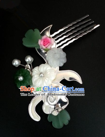 Handmade Traditional Chinese Classical Hair Accessories Ancient Bride Hanfu Hair Comb for Women
