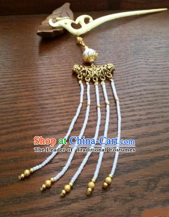 Traditional Handmade Chinese Classical Hair Accessories Ancient Bride Beads Tassel Hairpins for Women